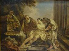 Susanna & The Elders Oil Painting