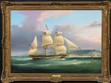 British Frigate Sailing South China Sea Oil Painting