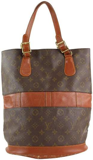 Louis Vuitton Monogram Marais Bucket GM Tote Bag