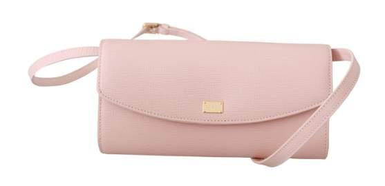 Pink Evening Long Mini Crossbody Borse 100% Leather Bag