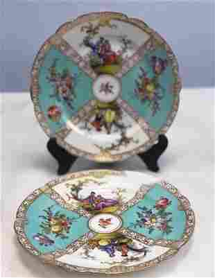 Name: Pair of Dresden porcelain plates Size: 21 cm