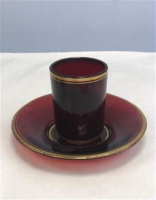 Name: Bohemian ruby cup and stand