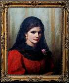 Portrait of A Spanish Beauty Oil Painting