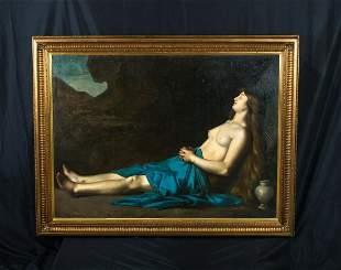 Nude Mary Magdalene Sleeping Oil Painting