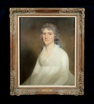 Portrait Lady Mrs J Young of Stirling Henry Oil