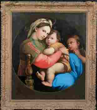 Madonna Christ St John Oil Painting