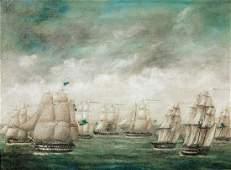 British Royal Navy Fleet Ships Off Hong Kong Oil