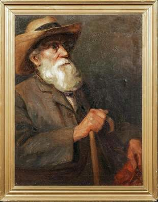 Portrait of Impressionist Artist Oil Painting