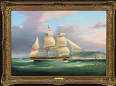 Frigate Sailing South China Sea Oil Painting