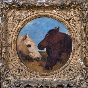 Portrait of Three Horses Oil Painting