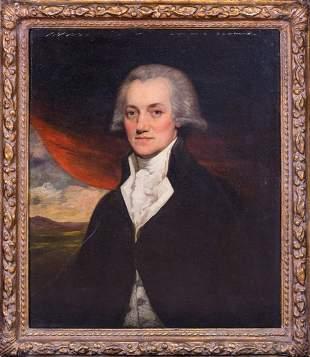 American Revolutionary Gentleman Oil Painting