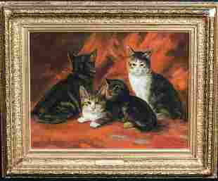 Portrait of A Family Of Kittens Oil Painting