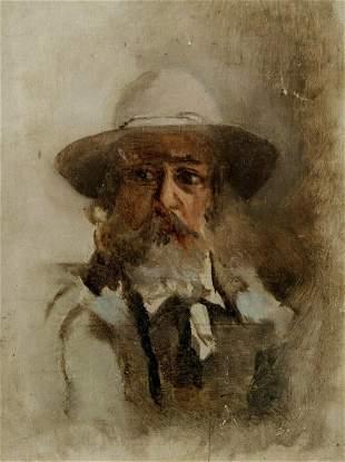 Portrait of Claude Monet Oil Painting