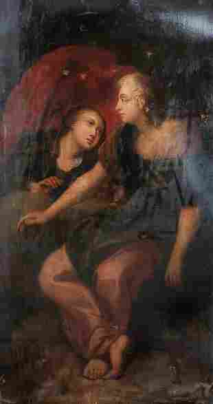 Goddess Asteria & Hecate Witchcraft Oil Painting