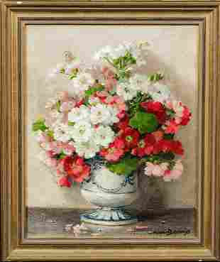 Still Life of Flowers Stock In A Vase Oil Painting