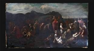 Jesus Feeding The 5000 Oil Painting