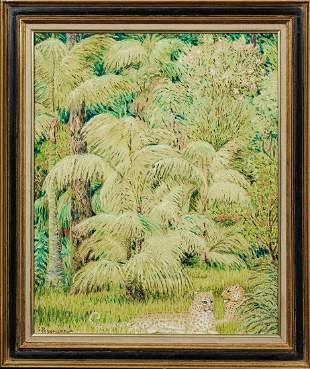 Jungle Leopards Oil Painting