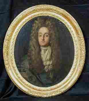 Portrait Mr Christopher Sanderson II (1617-1693) Oil