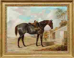 Strawberry Roan Hunter Oil Painting