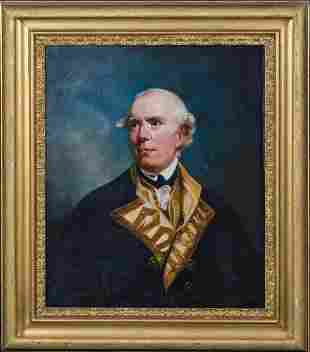 Portrait Admiral Barrington Oil Painting