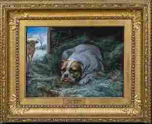 Bulldog Portrait Oil Painting