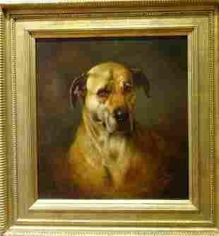 Mastiff Dog Portrait Oil Painting