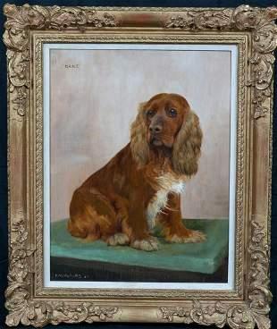 "Cocker Spaniel Dog Portrait ""Dane"" Oil Painting"