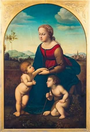 Madonna La Belle Jardiniere Oil Painting