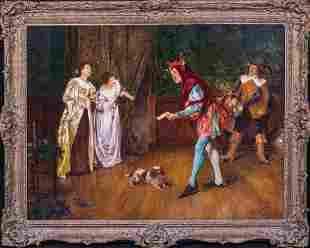 The Kings Jester Interior Scene Oil Painting