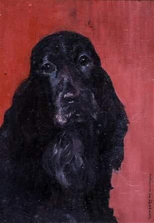 Spaniel Dog Portrait Oil Painting