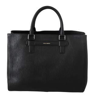 Black Travel Messenger Tote Borse Handbag Leather Bag