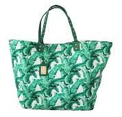 Green Banana Leaves BEATRICE Shopping Hand Tote Bag