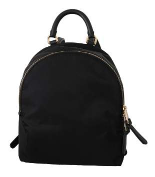 Nylon VULCANO Black Women School Travel Backpack