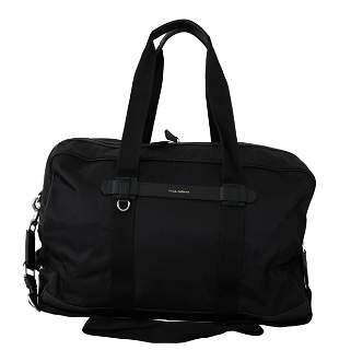 Black Duffle Travel Shoulder Sling Strap Nylon Bag