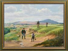 Golfing On The Fairway Oil Painting