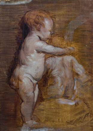 Study Sketch Of Putti Oil Painting
