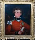Military Portrait John Charles Stahlschmidt Oil