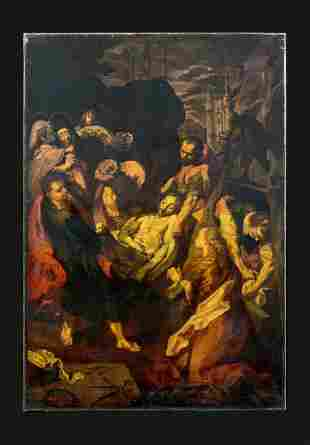 The Entombment of Christ Oil Painting