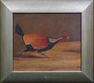 Portrait Of A Fighting Cock Oil Painting