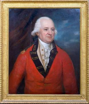 Portrait Of A British Military Officer Oil Painting