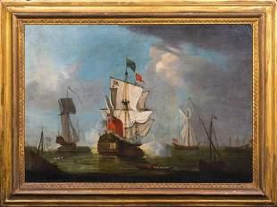 Royal Navy Ships Oil Painting