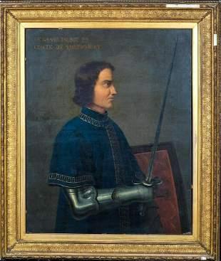 Portrait John Talbot, Earl Of Shrewsbury (1387-1453)