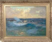 Surf At Twilight Oil Painting