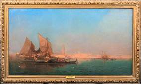 Venice Sunset Landscape Oil Painting