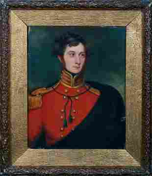 Military Officer Portrait Oil Painting