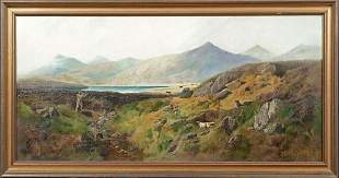 Highland Hunting Oil Painting
