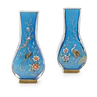 ATTRIBUTED TO BACCARAT, A LATE 19TH CENTURY PAIR OF