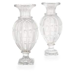 ATTRIBUTED TO BACCARAT, A PAIR OF LATE 19TH/EARLY 20TH