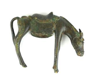 A 12TH CENTURY PERSIAN BRONZE HORSE