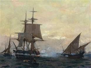 The Evening Gun Oil Painting